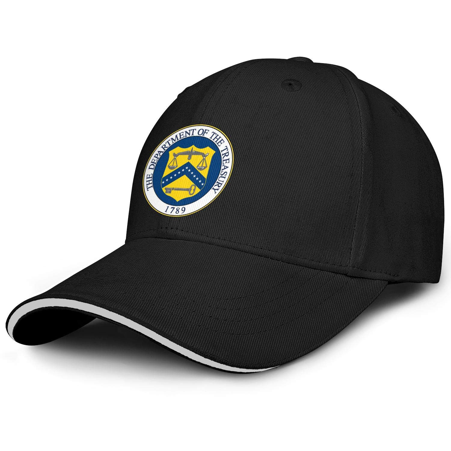 United States Department of The Treasury Baseball Caps Best Baseball Hats Mens Adjustable Snapback Ball Caps for Men