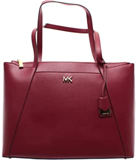 b245876ece3a02 MICHAEL KORS Women's Shoulder Bag 30S8GN2T9L Maroon Maddie Leather Bordeaux  New
