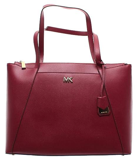 MICHAEL KORS Women s Shoulder Bag 30S8GN2T9L Maroon Maddie Leather Bordeaux  New  Amazon.co.uk  Clothing f78f6d33945b1