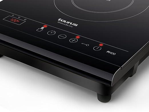 Taurus PI400 Placa inducción portátil, Cristal, Negro: Amazon.es ...