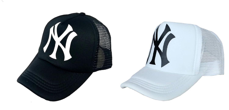 Michelangelo White NY Half Net Baseball CAP and NY Black Half Net UNISEX CAP  COMBO  Amazon.in  Clothing   Accessories c9753d303f2
