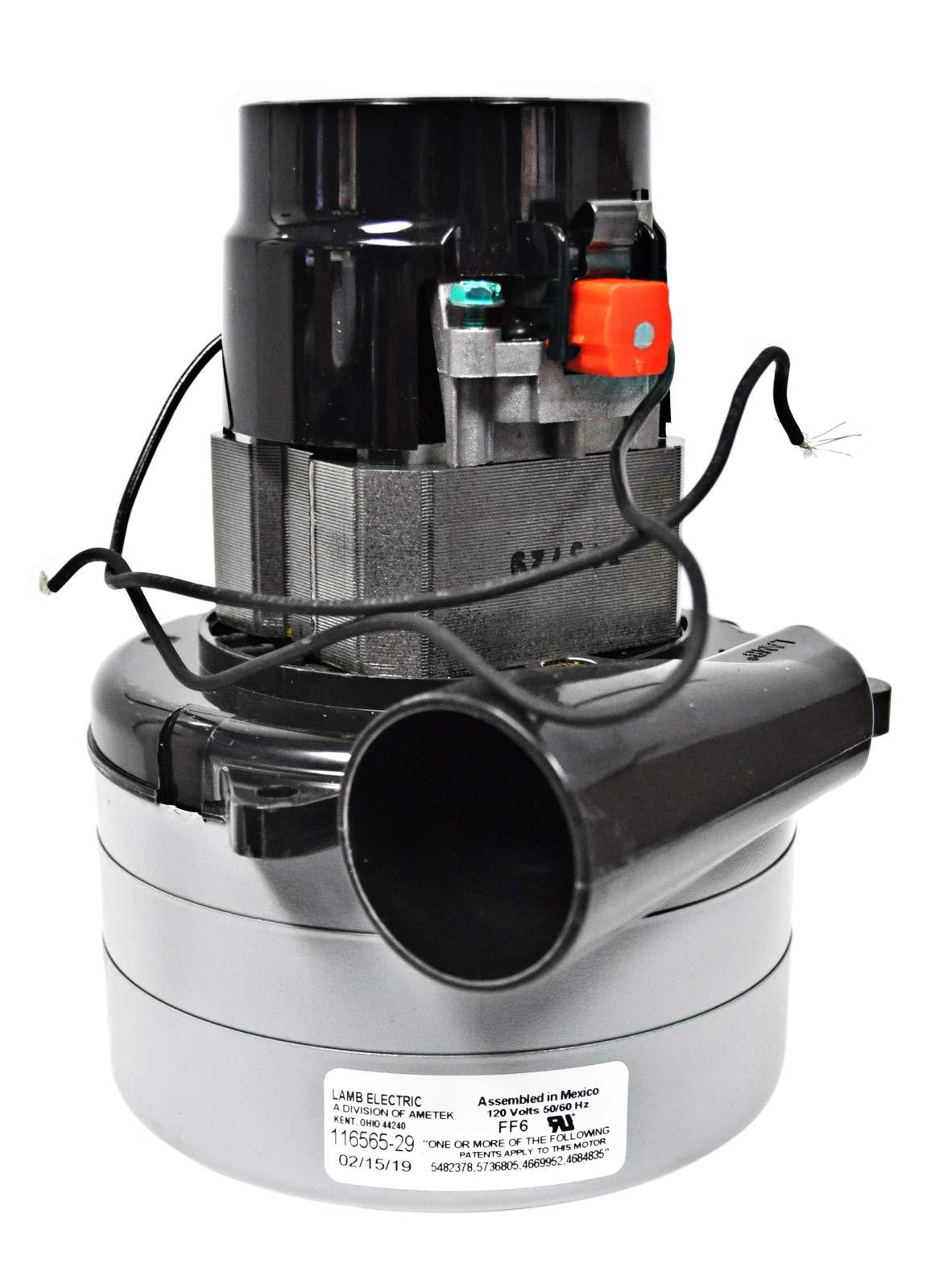 Ametek Lamb 5.7 Inch 120 Volt 3 Stage B/B Tangential Bypass Vacuum Motor 116565-29 by Ametek