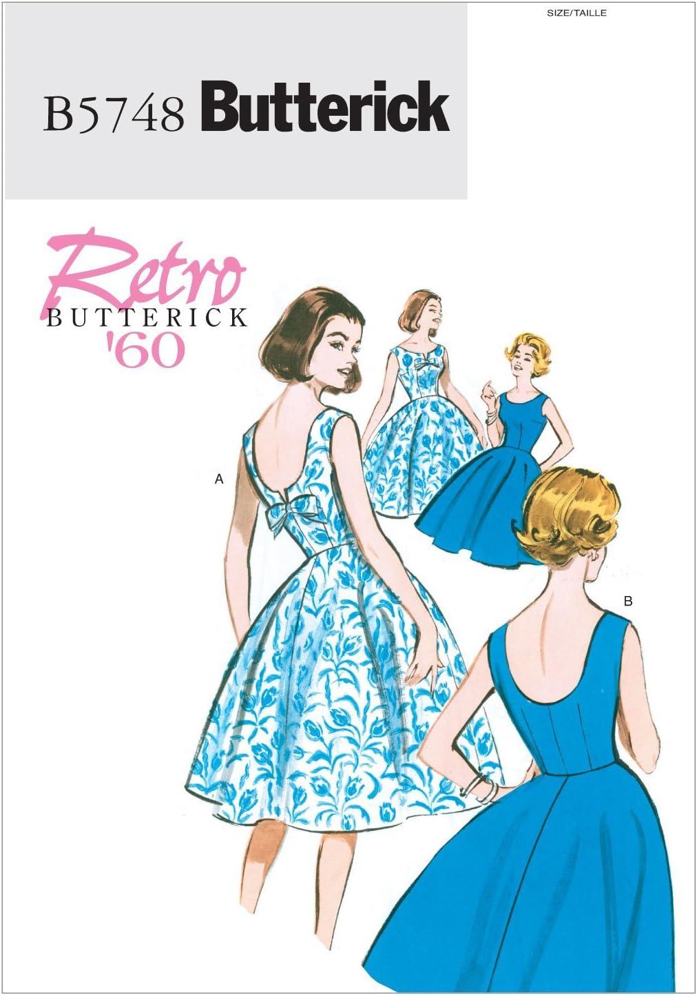 BUTTERICK PATTERNS B5748 Misse/Misse Petite Dress, Size A5 (6-8-10-12-14)