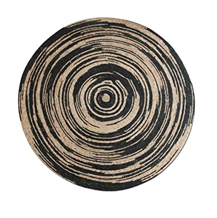 Amazon.com: Area Rugs Nordic Round Carpet Simple Hand-Woven ...