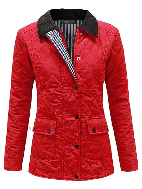 ENVY Boutique Damas GUATEADO Acolchado Botón Cremallera mujer chaqueta de invierno abrigo arriba Tallas Grandes 8-20: Amazon.es: Ropa y accesorios