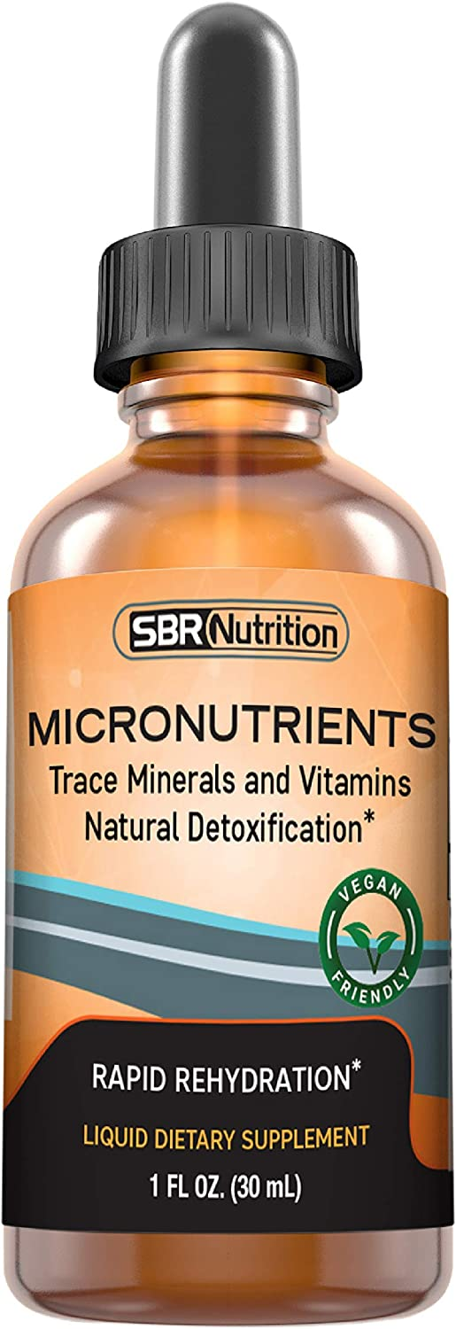 Micronutrients Liquid Drops | Electrolytes, Trace Elements | PrimaVie Shilajit, Fulvic, Humic Acid | for Energy, Keto, Paleo, Vegan, Leg Cramp | Magnesium Sodium Potassium Zinc