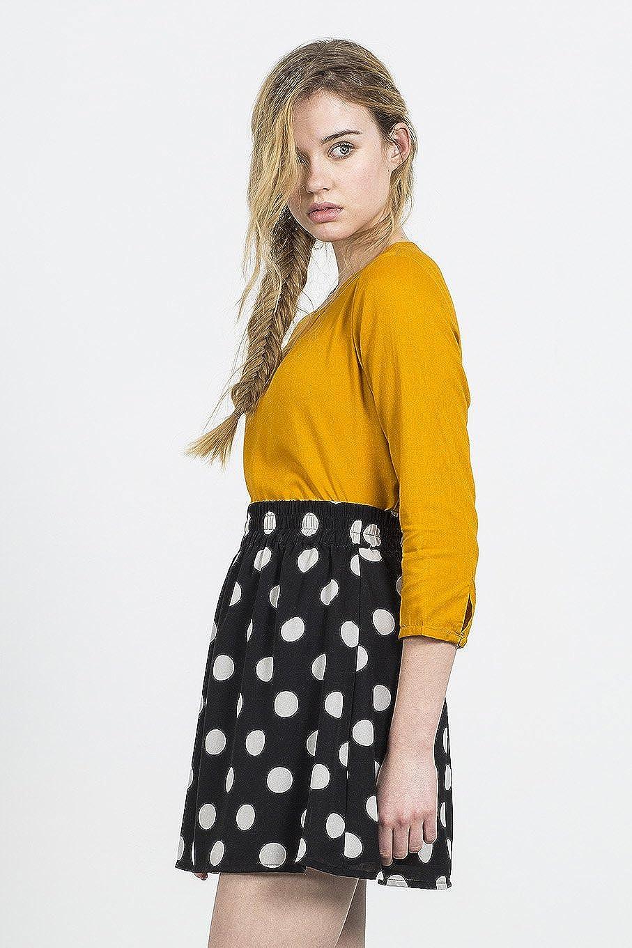 Compañia Fantastica Twister Skirt Falda Casual, Negro (Lunares), M ...