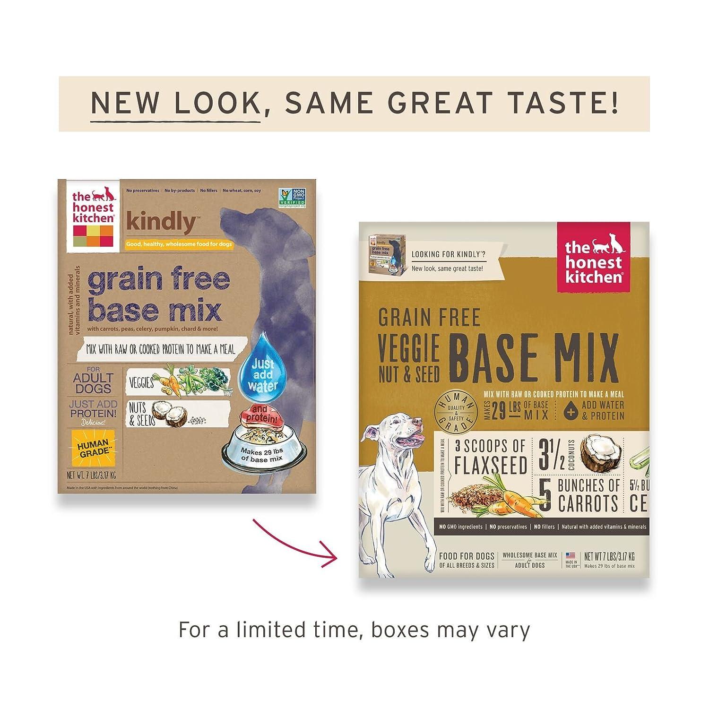 Honest Kitchen The Grain Free Veggie, Nut U0026 Seed Base Mix Recipe For Dogs,  7 Lb Box   Kindly: Pet Supplies: Amazon.com