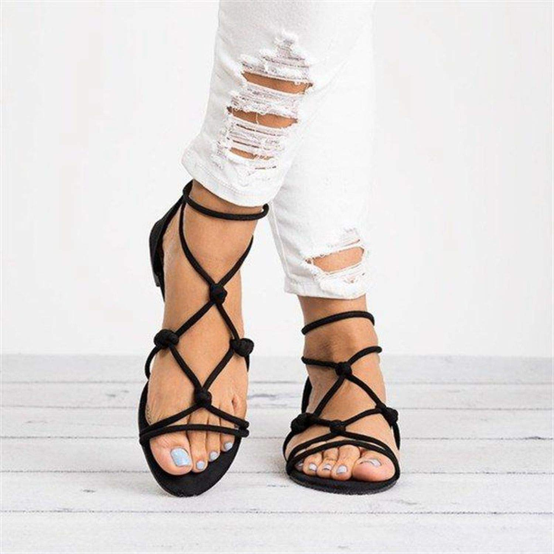 better-caress Women Sandals Rome Style Shoe Woman Giator Sandals Flip Flop Fe Flat Sandals y,Pink,9,