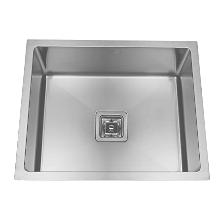ENKI Stainless Steel Kitchen Sink Undermount Compact Square Handmade
