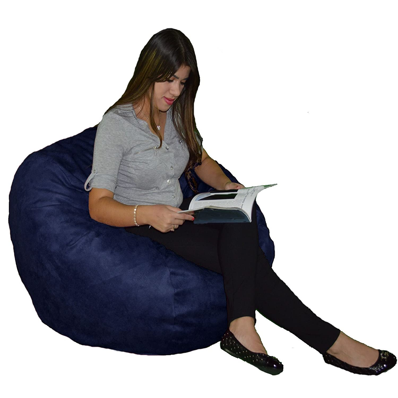Astonishing Cozy Sack Small Cozy Foam Bean Bag Chair Navy Bralicious Painted Fabric Chair Ideas Braliciousco