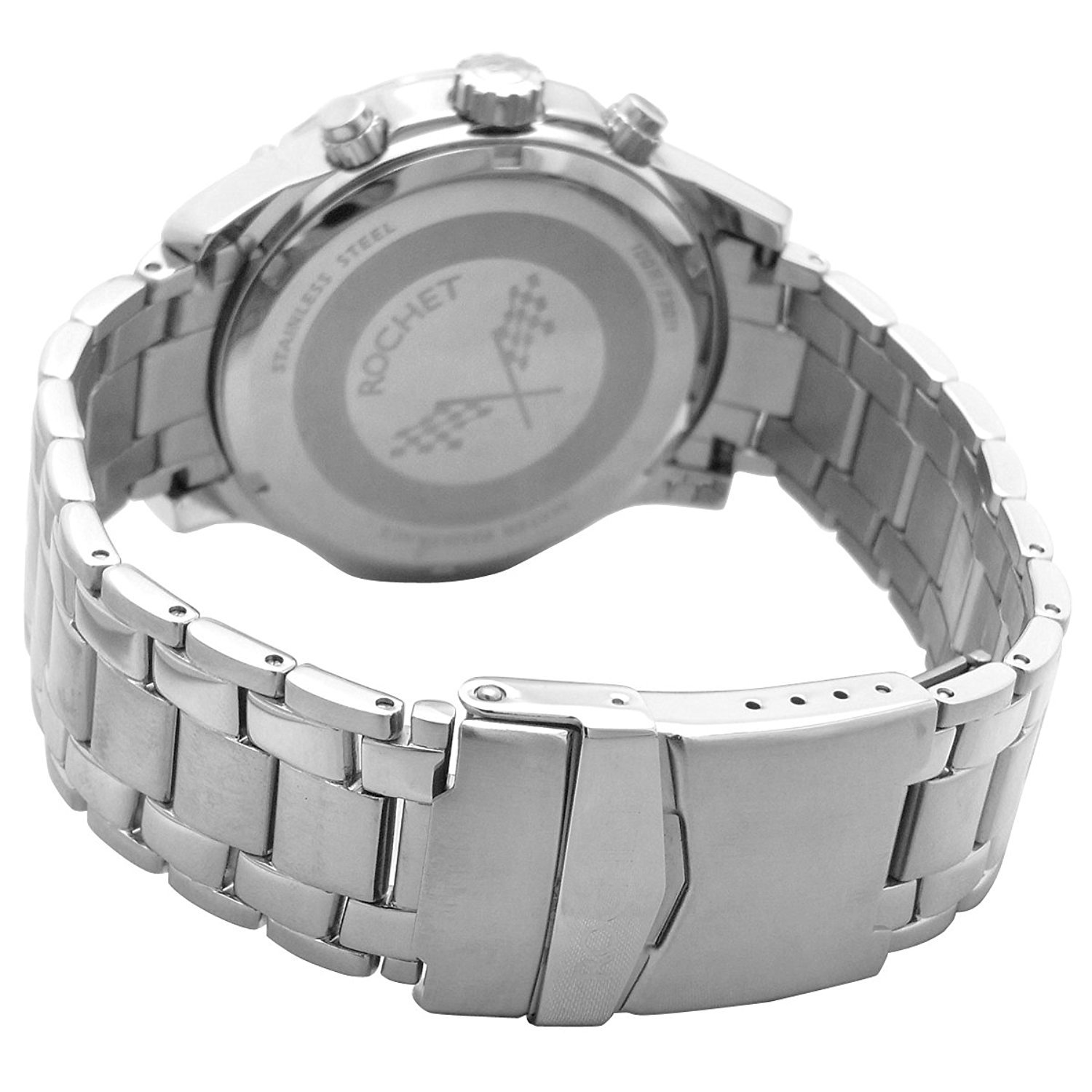 Amazon.com: ROCHET watch MOTOR chronograph watch metal band Date Black W107013 Mens [regular imported goods]: Watches