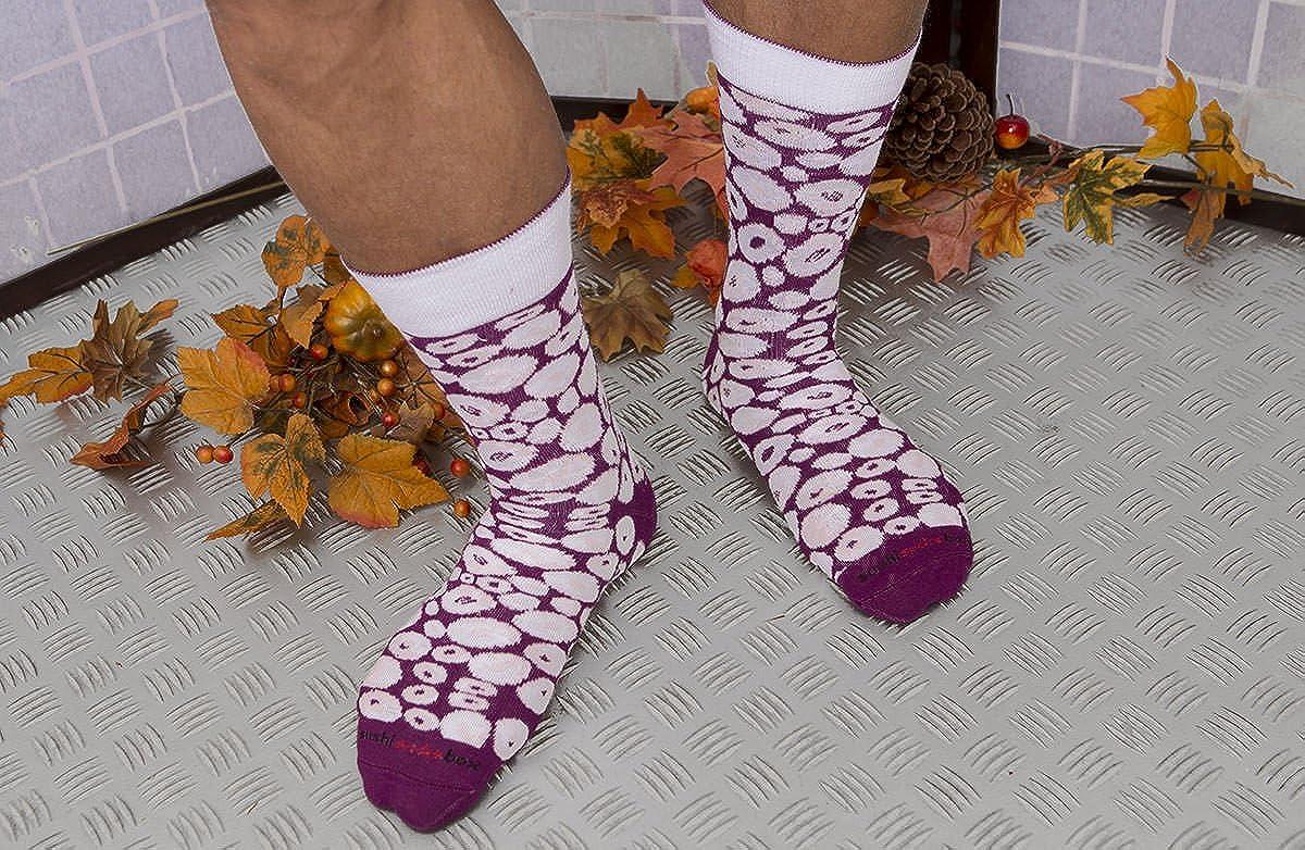 Rainbow Socks Donna Uomo Calzini Sushi Octopus Viola 1 Paio