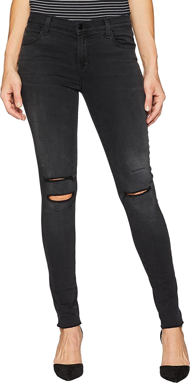 1e2508c2f964 Amazon.com  J Brand Women s 620 Mid-Rise Super Skinny Jeans in Nevermore  Destruct Nevermore Destruct 30 30  Clothing