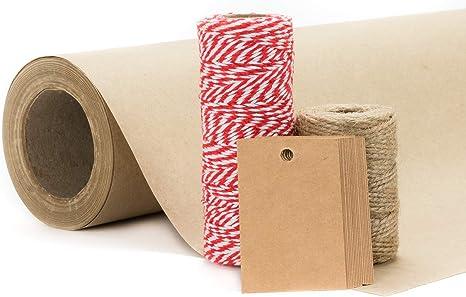 18 Personalised Vintage//Retro Christmas Tags//Parcel Gift Wrap Kraft Brown