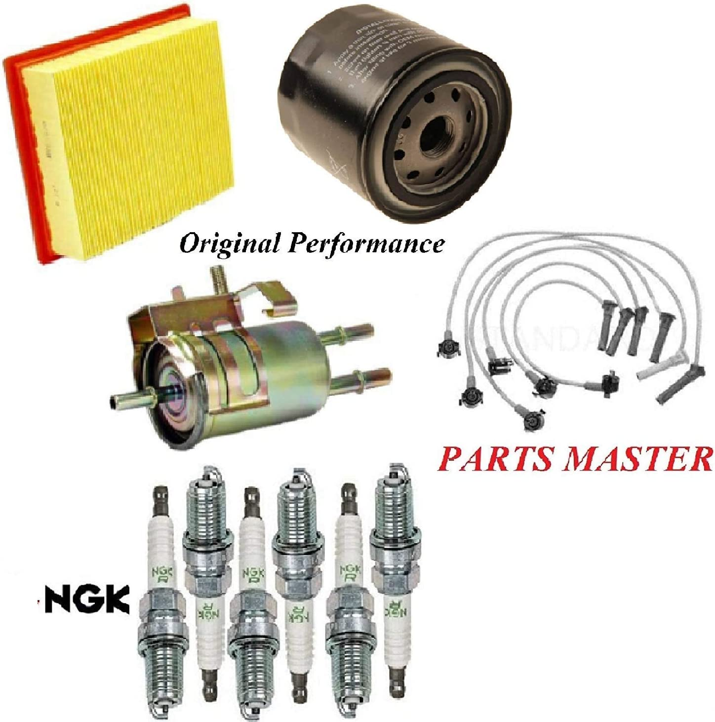 Tune Up Kit Air Cabin Oil Fuel Filters Wire Spark Plug FIT FORD RANGER V6 4.0L 2003