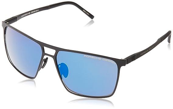 5585be4062 Amazon.com  PORSCHE DESIGN P 8610 Sunglasses Black A 59-15-140  Clothing