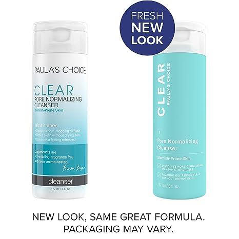 Sữa rửa mặt trị mụn và se khít lỗ chân lông Paula s Choice Clear Pore Normalizing Cleanser 30/177ml