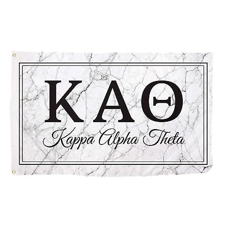 22f1ce63 Amazon.com: Kappa Alpha Theta Marble Box Letter Sorority Flag Banner 3 x 5  Sign Decor Theta - Marble Box: Garden & Outdoor
