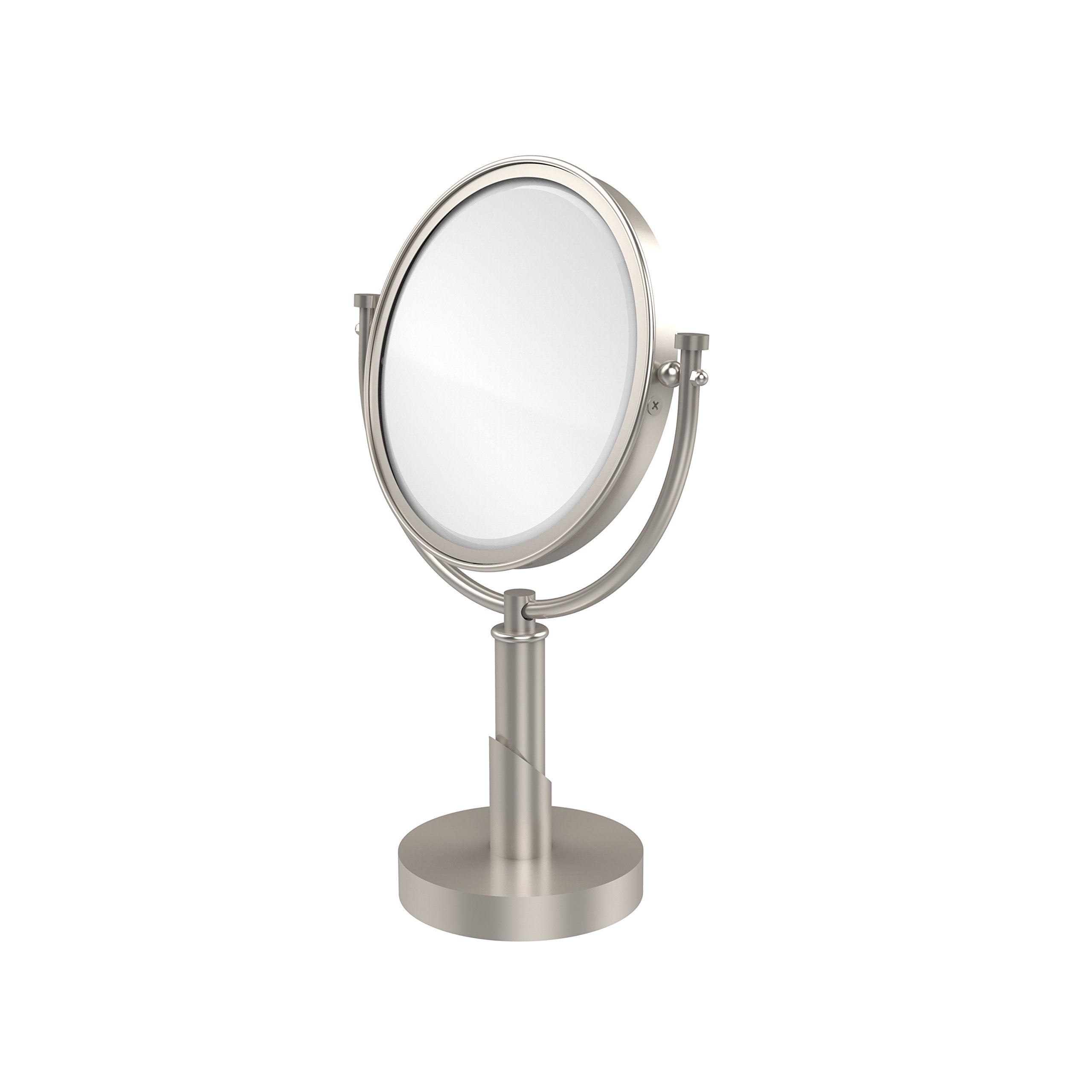 Allied Brass TR-4/5X-SN Table Mirror with 5X Magnification, Satin Nickel