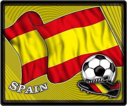 mousepad con diseño – Fútbol de fútbol Bandera de España – Zapatillas 83154 – Talla aprox. 24 x 20 cm: Amazon.es: Oficina y papelería