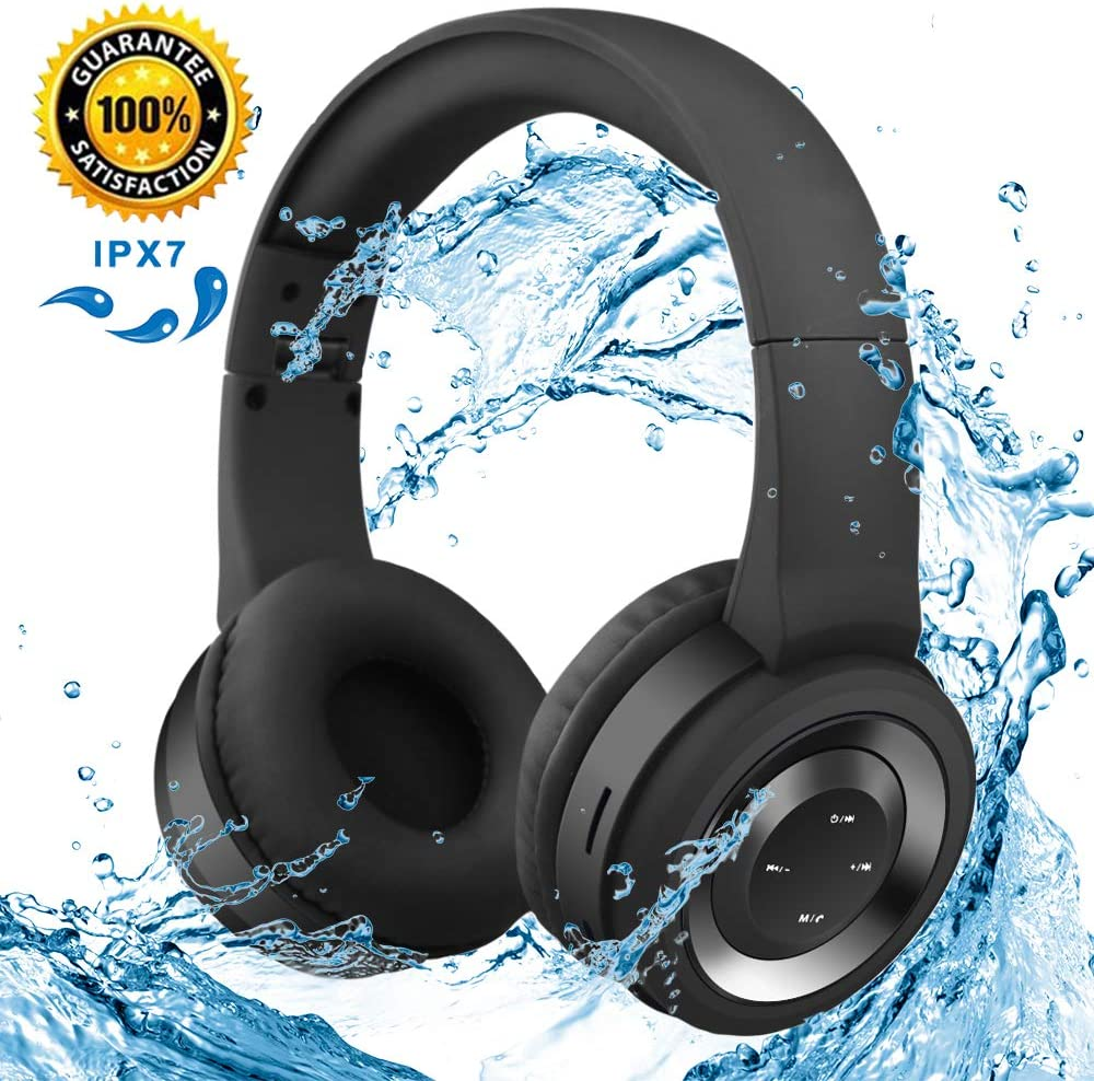 Bluetooth Headset Subwoofer Wireless Headphones with Microphone, Noise Cancelling 3D Stereo Headset for Android iPad iPhone Samsung Computer/TV