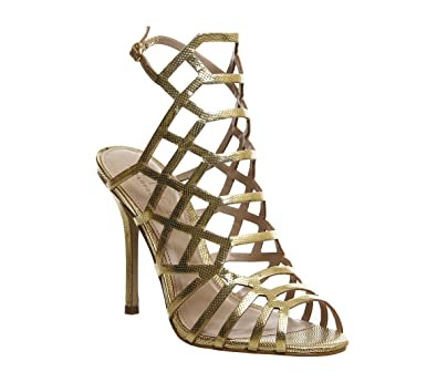 77c447c2594 Office Trance Caged Heels Gold Leather - 9 UK  Amazon.co.uk  Shoes   Bags