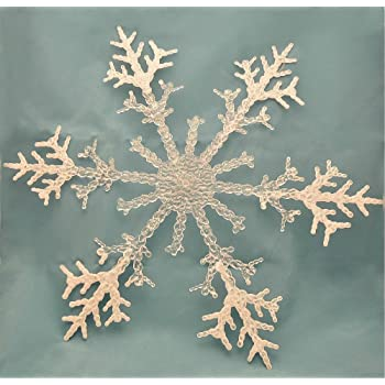 17 jumbo acrylic snowflake christmas decorations ornaments pack of 4 new improved packaging - Snowflake Christmas Decorations