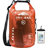 HEETA Waterproof Dry Bag for Women Men, Roll Top Lightweight Dry Storage Bag Backpack with Phone Case for Travel…
