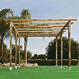verdelook cenador de madera doble Pergola Colcha Decoración Jardín Patio Exterior 6 x 3 m: Amazon.es: Jardín