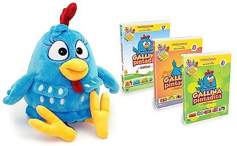 Combo Pack: Lottie Dottie Chicken Plush Toy + DVDs Multi-language Vol. 1
