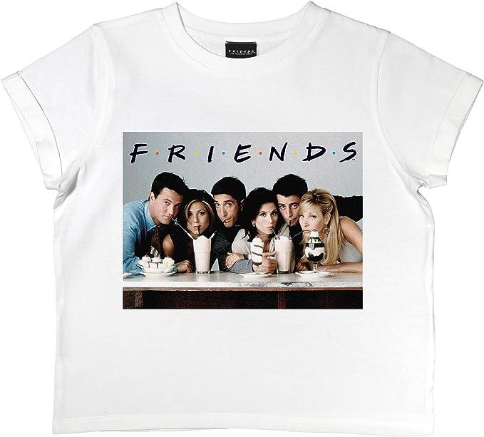 Friends Batidos Niñas Recortada Camiseta | mercancía Oficial | Las Edades de 7-16, Ropa de Moda de Chicas, Crop Top, Tween y tamaños Adolescentes, Hija Idea del Regalo de cumpleaños: Amazon.es: Ropa