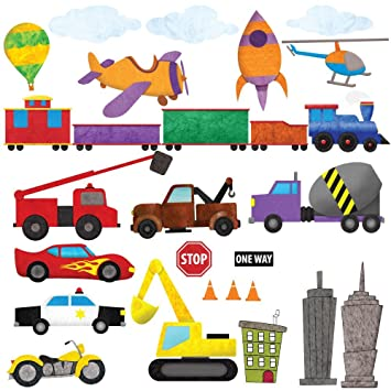 Car Wall Stickers, Train Wall Decals U0026 Airplane Wall Decals By My Wonderful  Walls U2013