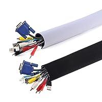 AGPtek Rangement de Câble en Néoprène (149cm*13.4cm), CS1 cache-câble Ideal pour Ranger ou Cacher les câbles, Gaine pour câbles de Télé ou Ordinateur