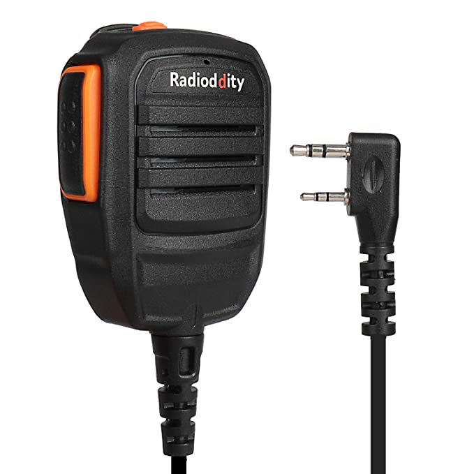 Radioddity RS22 Remote Speaker Mic with Clear Sound, Compatible with Baofeng UV-5R UV-5RX3 BF-888S BF-F8HP UV-82HP H-777 Radioddity TYT Kenwood Two Way Radio Walkie Talkie