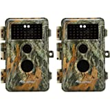 [2020 Upgrade] 2-Pack Game Trail Deer Cameras 20MP HD 1080P H.264 MP4 Video with Night Vision Motion Activated…
