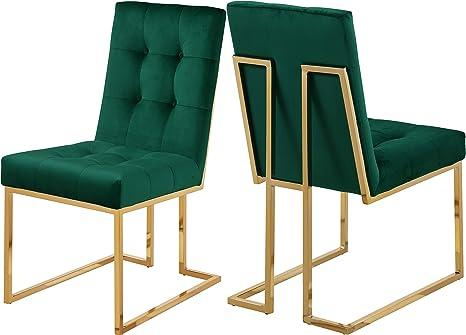 Amazon.com: Meridian Muebles Pierre terciopelo silla de ...