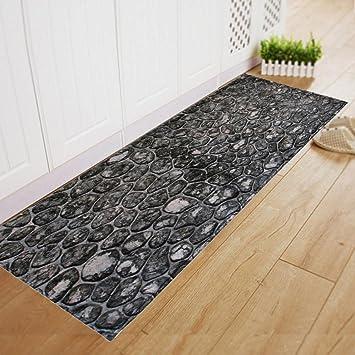 Teppich Küche vor Evier Fußmatte Moderne Stein Motiv 180 x ...