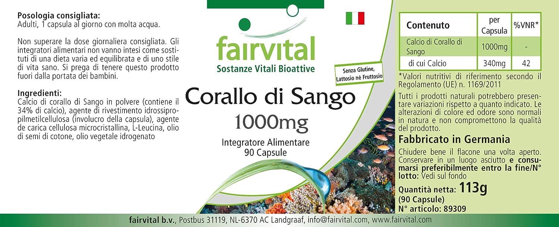 Coral Sango cápsulas 1000mg - VEGANO - 90 Cápsulas ...