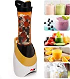 Blender for Shakes, Smoothies, Fruit Vegetables Drinks, Ice,Portable Blender Includes Condensation Free Sports Bottle with Travel Clip,300-Watt.(Orange)