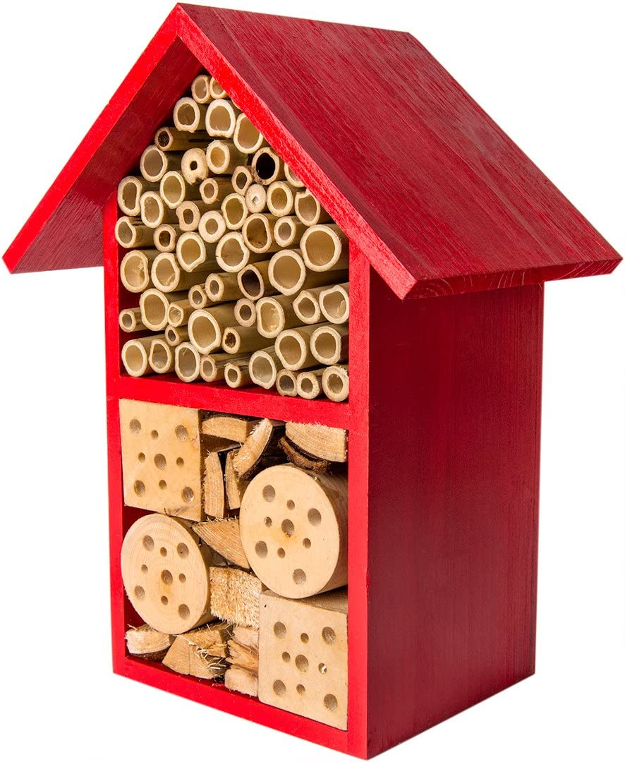 SuperMoss (56121) Tulip Beneficial Bug Hotel, Barn Red