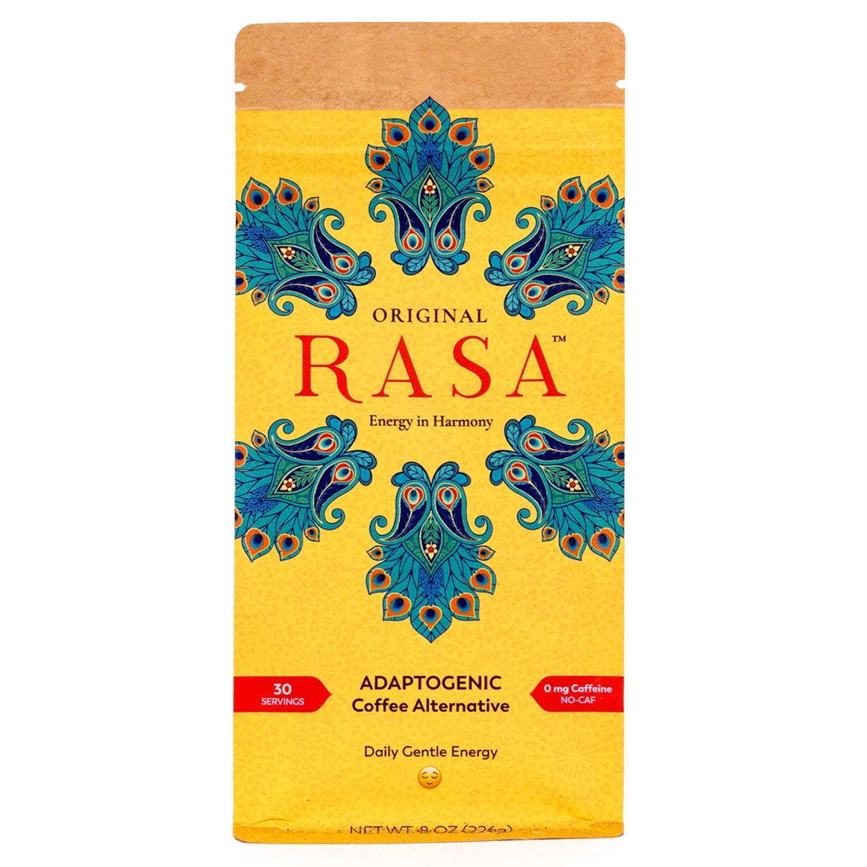 Original Rasa Herbal Coffee Alternative with Ashwagandha, Chaga + Reishi for All-Day Energy + Focus - Caffeine-Free, Organic, Adaptogens, Vegan, Keto, Whole30, 8 Ounce by Rasa Koffee
