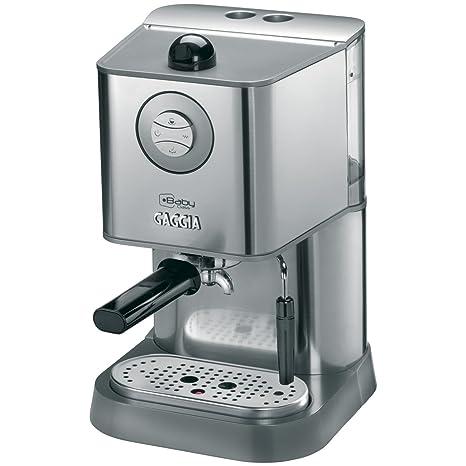Gaggia RI8157/40 Independiente Manual Máquina espresso 1.6L Acero inoxidable - Cafetera (Independiente