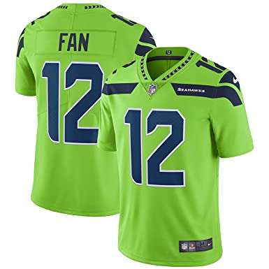 Nike Seattle Seahawks  12 Fan Color Rush Vapor Untouchable Limited Jersey -  Men s Large 23123079a