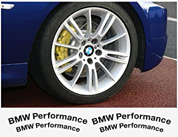Amazoncom BMW Performance Brake Caliper Decal Pcs In Set - Bmw brake caliper decals