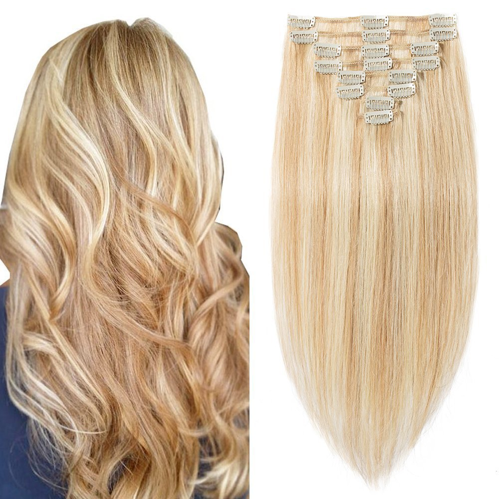 Amazon 20 Inch 105g Clip In Remy Human Hair Extensions Full