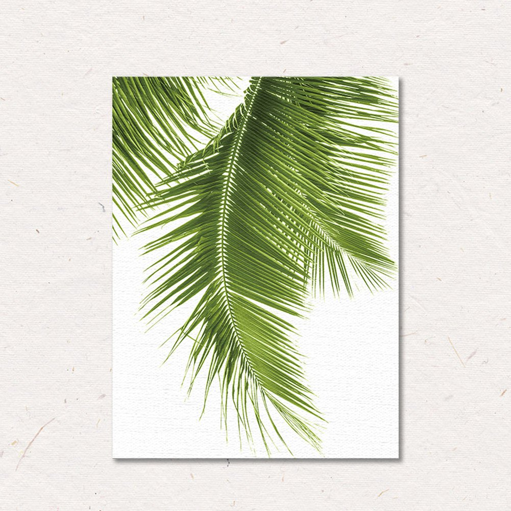 Nordic Green Leaves Wall Decor Tropical Plant Nature Wall Art Canvas Painting Pastoral Simple Modern Drawing for Living Room Bedroom Kitchen Office by Yunhigh(No Frame)