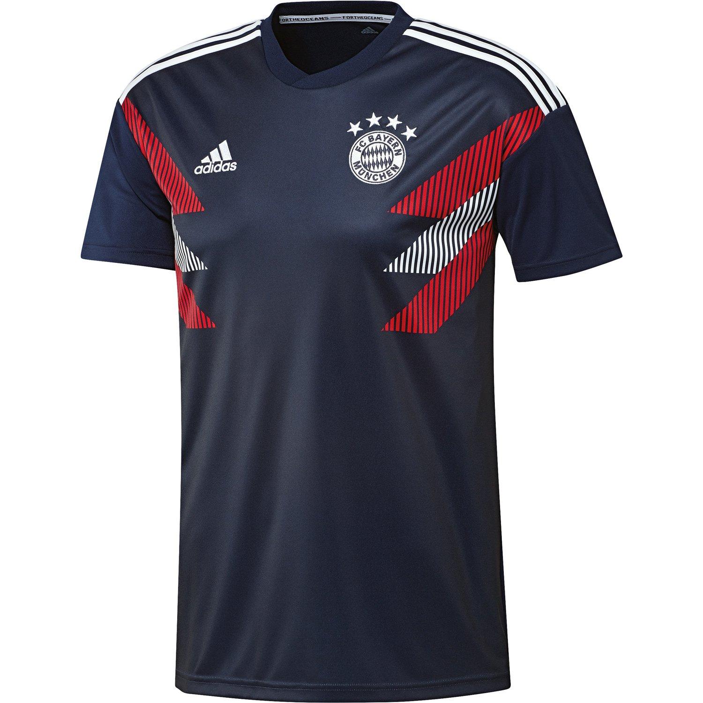 f50f97e7 Amazon.com : adidas 2018-2019 Bayern Munich Pre-Match Training Football  Soccer T-Shirt Jersey (Navy) : Sports & Outdoors