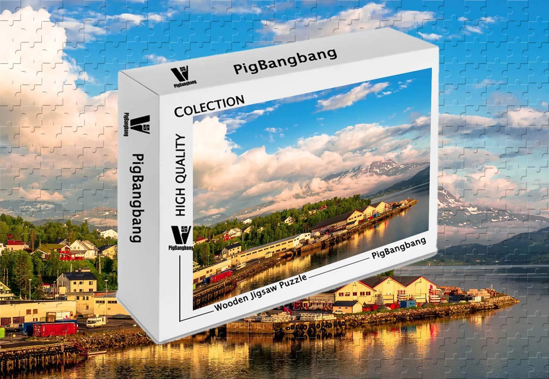 新しい到着 PigBangbang,Basswood - 明るいカラフルなアート絵 - 22.6インチ) ノルウェーの家 ツリーベイ X - 1500ピース ジグソーパズル (34.4 X 22.6インチ) B07J4PTP3M, FALCON BIKE:454d50ab --- sinefi.org.br