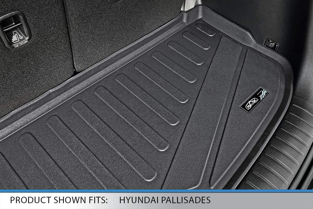 MAXLINER All Weather Custom Cargo Trunk Liner Floor Mat Behind 3rd Row Black for 2020 Mercedes-Benz GLE-Class 7//8 Passenger